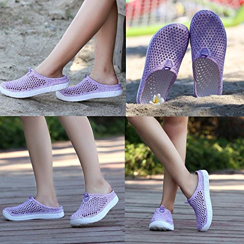 Women's Slip Purple Drying Sandals Clog Slippers Lightweight Mesh Quick Footwear PHILDA Garden Breathable Beach Shoes Anti dafUpPdx