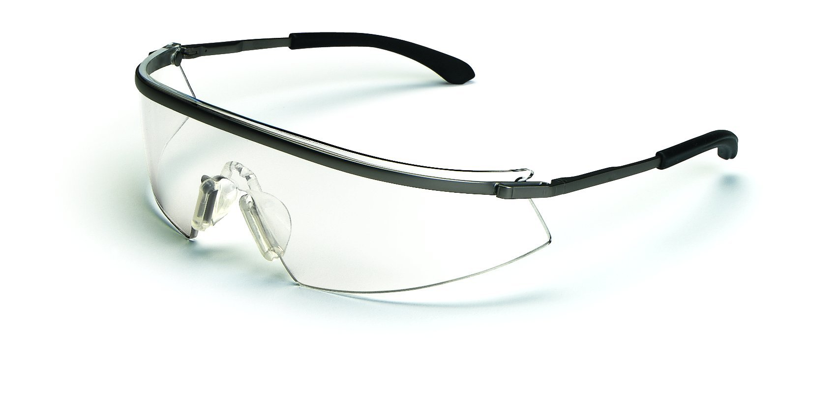 MCR Safety T3110AF Triwear Metal Safety Glasses with Platinum Frame and Clear Anti-fog Lens