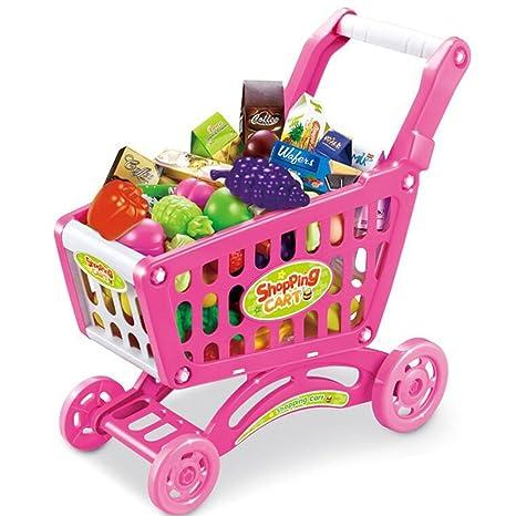 FEI Juguetes para Bebés Juguetes de simulación infantil supermercado Carros de la compra Para jugar Juguetes