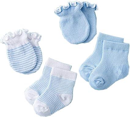 3 Paia Di Calzini Bebè Disegni Assortiti 0-3 Mesi Bambino Blu//Rosa Crema