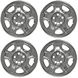 OxGord 16 inch Hubcap Wheel Skins for 2002-2007 Jeep Liberty-(Set of 4) Wheel Covers- Car Accessories for 16inch Chrome Wheels- Auto Tire Replacement Exterior Cap Cover