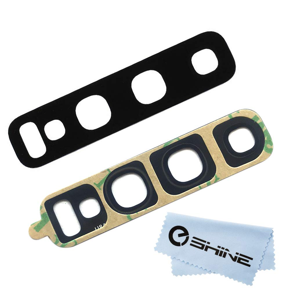 EShine Back Rear Camera Glass Lens Replacement + Adhesive Preinstalled for  Samsung Galaxy S10 G973 / S10+ Plus G975 (All Carriers)