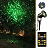 StillCool RF Remote Controllable Green&Red Outdoor Garden Wall Tree Decoration Red and Green Laser Lights for Christmas Decorative Light, Holiday Lighting, Camping (Green&Red)