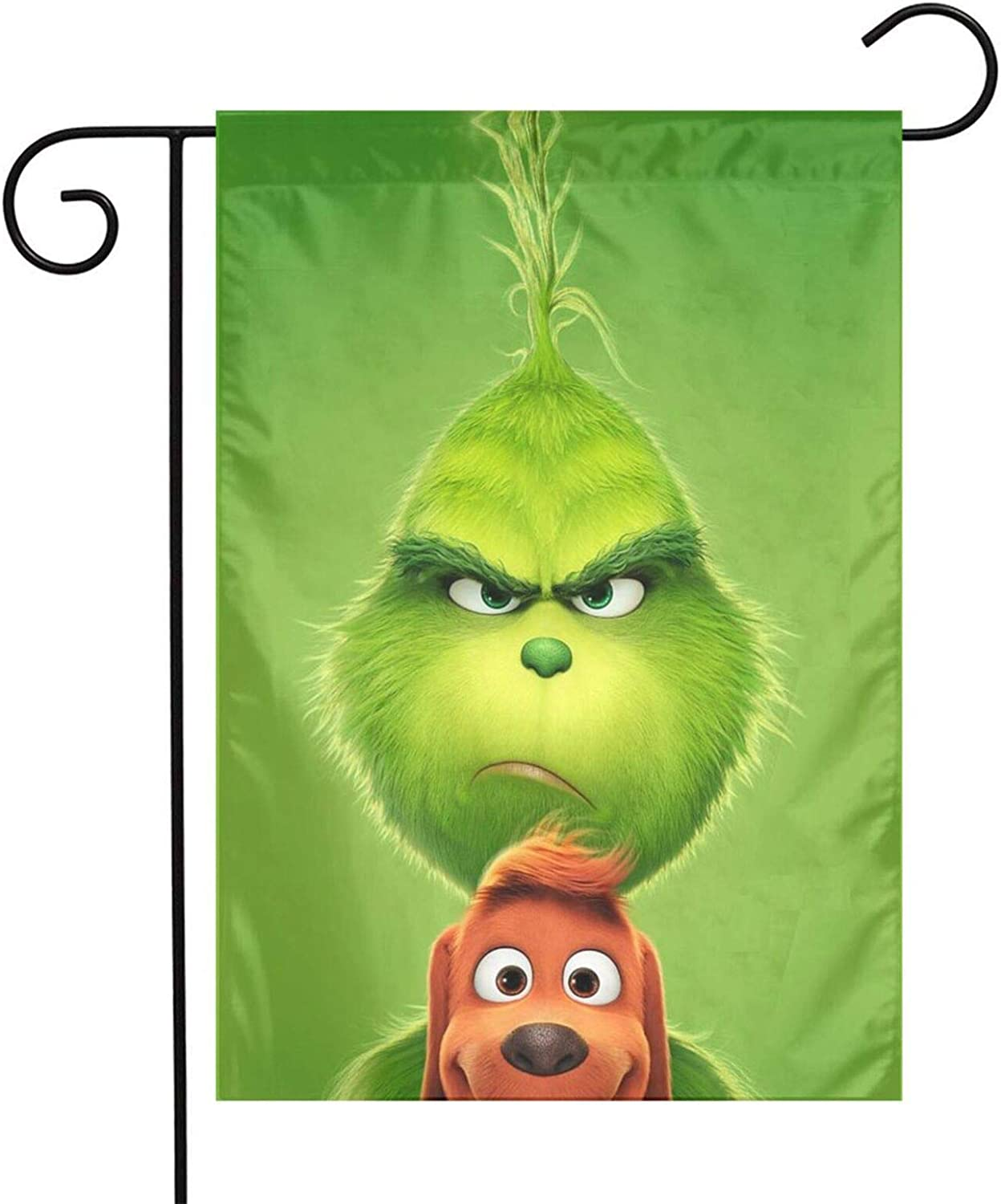 Sadie Mae Fall Garden Flag Double Sided, The Grinch Stole Christmas Home Garden Flags with for Garden Farm House Burlap Yard Garden Outdoor Decorations(12x18in)