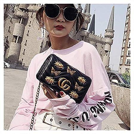 2019 Sommer Mini Schnalle Handtaschen Leder Gesteppt Kette Tasche Biene CG Mode Schulter Umh/ängetasche Baby Wickeltasche Mama Tasche