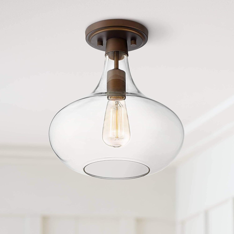 Cecil Modern Ceiling Light Semi Flush Mount Fixture Bronze 11