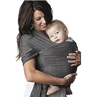 REBOZO FULAR ELASTICO 100% ALGODON PREMIUM BABY WRAP CON BOLSO DE VIAJE Y MANUAL PRECIO DE INTRODUCCION (GRIS OXFORD)