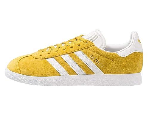 adidas Gazelle, Zapatillas de Gimnasia para Hombre, Amarillo Raw Ochre/Crystal FTWR White, 44 2/3 EU: Amazon.es: Zapatos y complementos