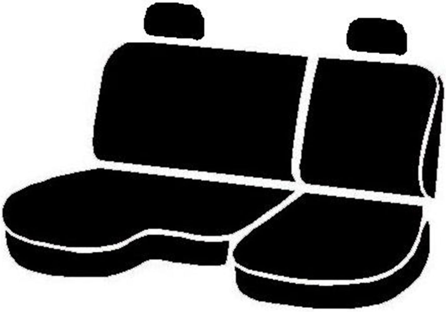 Saddle Blanket, Black Fia TR42-49 BLACK Custom Fit Rear Seat Cover Split Seat 40//60