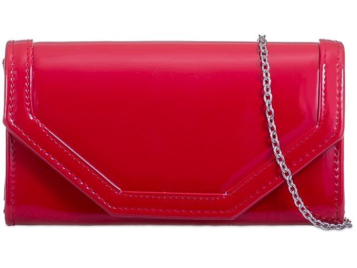 f318e79380f fi9® Small PU Patent Leather Bridal Wedding Evening Handbag Party Purse  Clutch Shoulder Hand Bag (Black)  Amazon.co.uk  Shoes   Bags