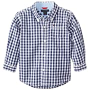 Tommy Hilfiger Baby Boys' Long Sleeve Baxter Shirt, Flag Blue, 12 Months