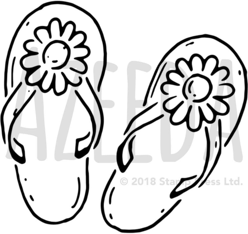 Durable /& Reusable Mylar Stencils Flip Flops Stencil
