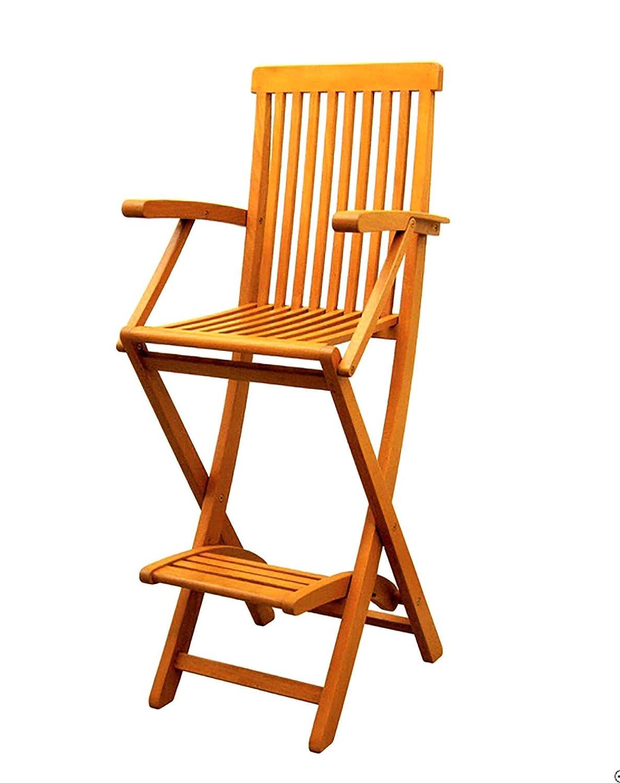 Bar Height Folding Chairs.Amazon Com Yellow Balau Bar Height Folding Arm Chairs Set