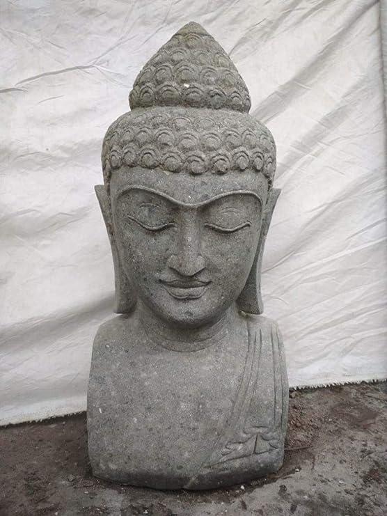 Wanda collection Busto de Buda de Piedra para jardín Zen 70 cm: Amazon.es: Jardín