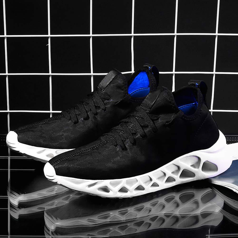 Hombres Zapatillas Negro Azul del Leopardo Respirables Ocasionales de los Deportes Zapatos de la Aptitud de los Zapatos Corrientes Pisos Ligera