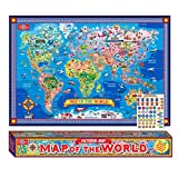 T.S. Shure Pictorial Map of the World - Laminated Poster with Interactive Stickers
