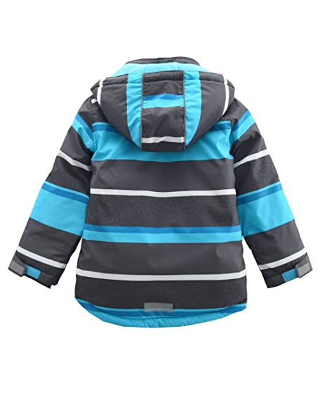 77f8348a9 Amazon.com  M2C Boys Thicken Warm Hooded Striped Ski Snowsuit Jacket ...