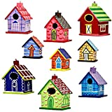 Set of 9 Home Sweet Home Indian Paper Mache Christmas Decorative Ornaments