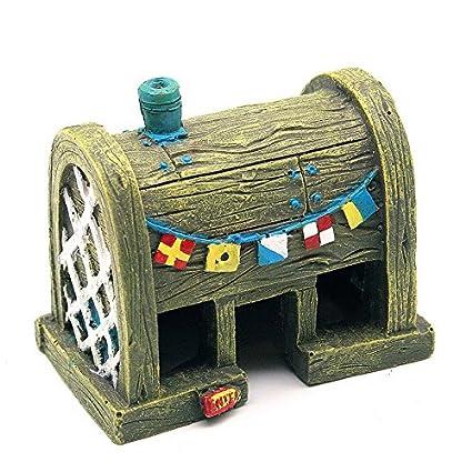 funnytoday365 Comic Bob Esponja crustáceo crujiente adornos Acuario Decoración Fish Tank