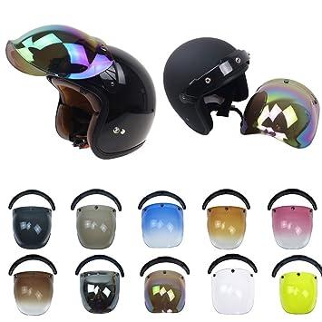 Sedeta Retro casco de motocicleta Parabrisas estilo Harley Skate Cascos para las chicas jóvenes del monopatín