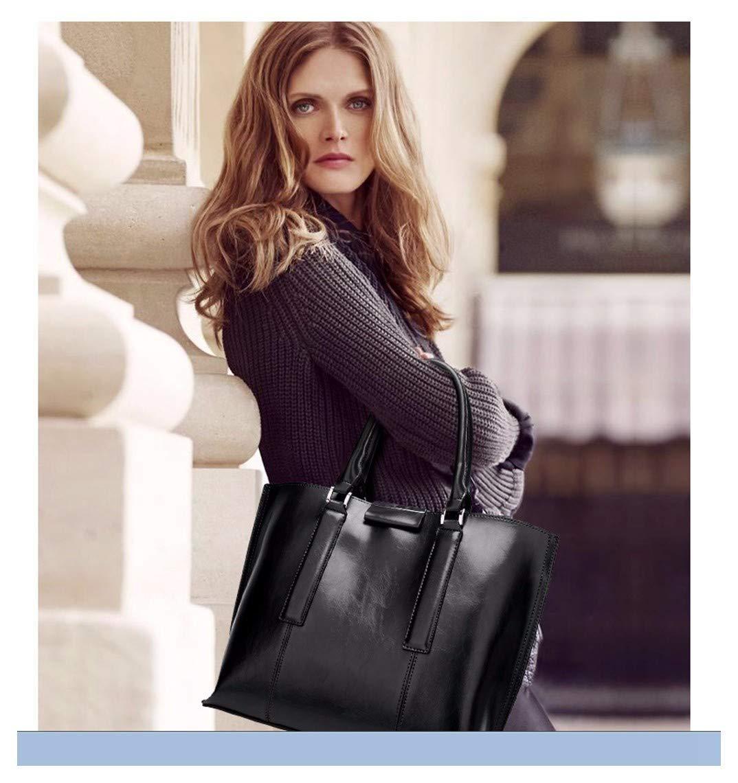 ATR Women 'S One-Shoulder Schräge Tasche Große Kapazität Handheld Pure Color Fashion Black