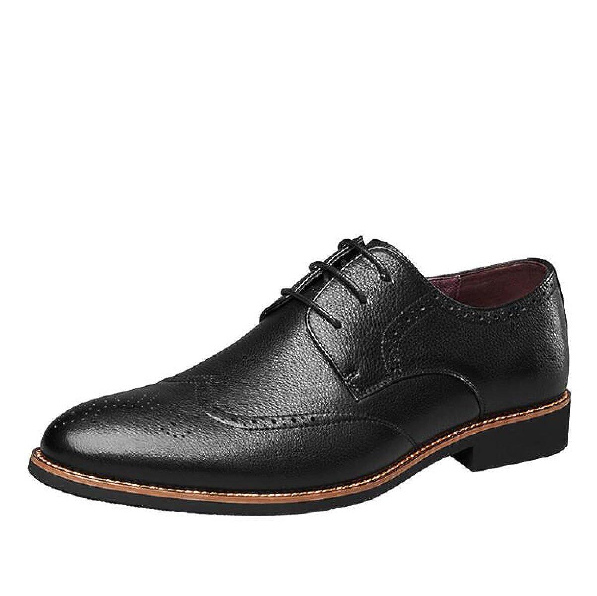 MUYII Herren Oxfords Leder Kleid Schuhe Casual Modern Classic Lace Up Herren Bequeme Schuhe Formale Geschäft-Schuhe für Männer