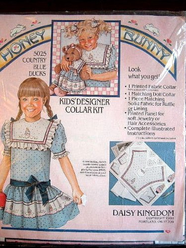 Cpimtru B;ie Dicls - Kids Designed Collar Kit from Daisy Kingdom Honey Bunny Collection - Daisy Kingdom Fabric