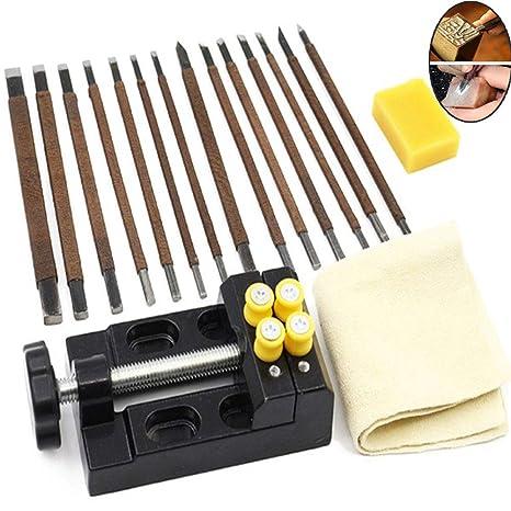Kits de herramientas de tallado de piedra, 18 piezas de ...