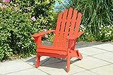 Sunjoy Adirondack Wood Folding Chair - Red