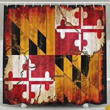 Maryland Flag Antibacterial Odorless WaterproofShower Curtain