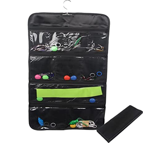 Amazoncom NonWoven Pocket Hanging Jewelry Organizer Travel Holder