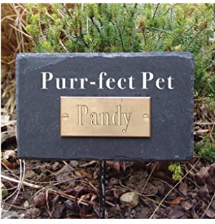 Natural Slate Pet In Loving Memory Memorial Plaque Rectangular