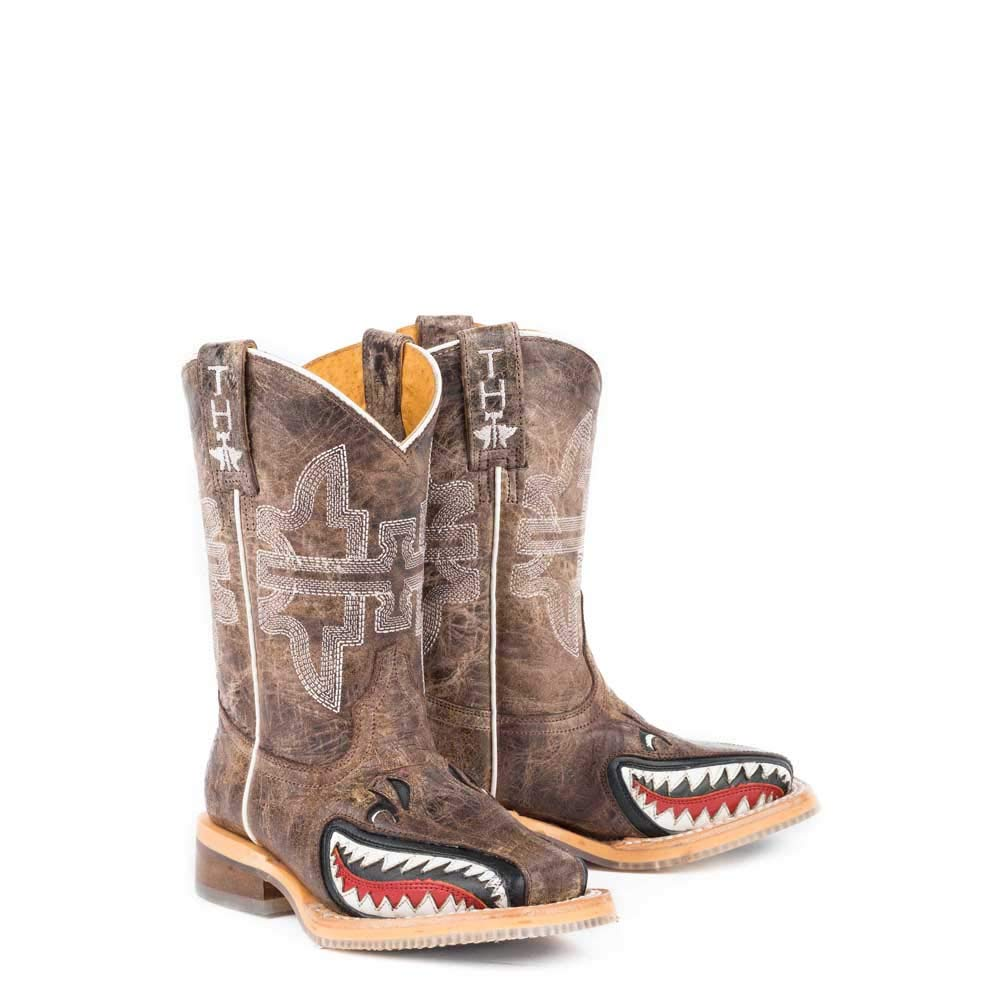 Kids Tin Haul Toastin A Gnarly Shark Boots Handcrafted