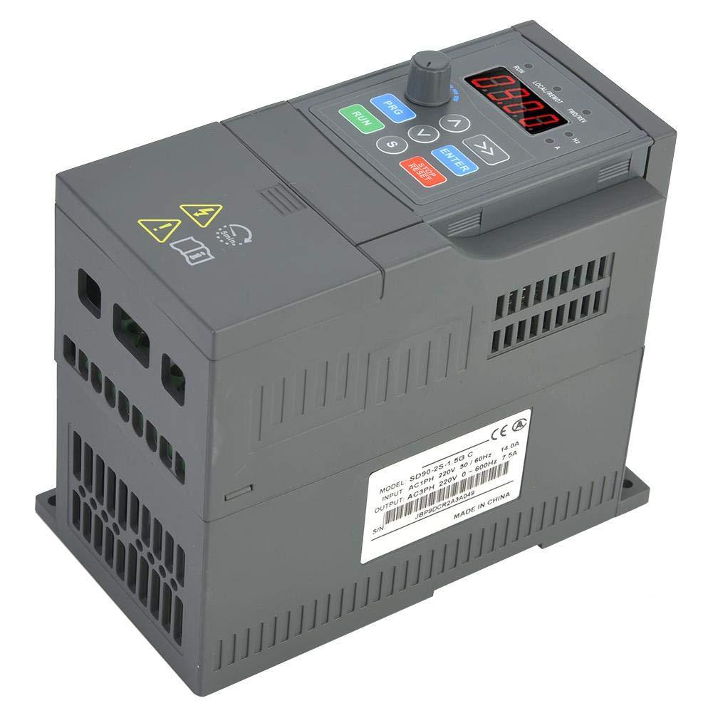 7.5A Frequency Inverter VFD Inverter SD90-2S-1.5G Variable Frequency Converter Inverter Single Phase Input 3 Phase Output 220V Inverter for 1.5KW Motor