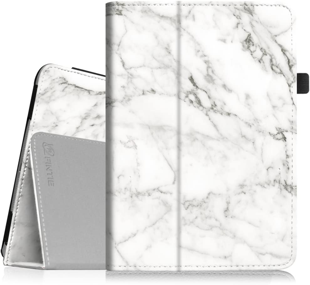 Fintie Folio Case for iPad Mini 1/2/3 - Slim Fit Case Smart Stand Cover Auto Sleep/Wake Feature for iPad Mini 1 / iPad Mini 2 / iPad Mini 3, Marble