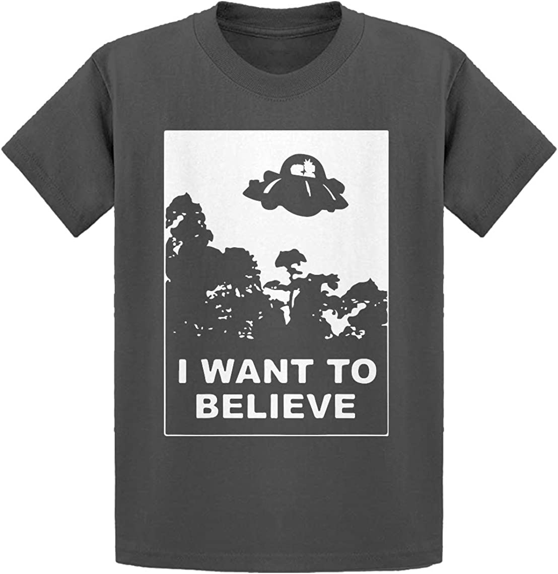 Indica Plateau I Want to Believe Morty Kids T-Shirt