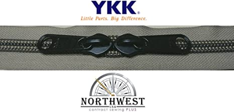 YKK Nylon Coil Zipper Tape # 8-5 continuous yards Gray  made in USA