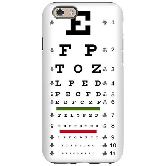 Amazon Iphone 6 Tough Case Optometrist Opthamologist Eye Chart