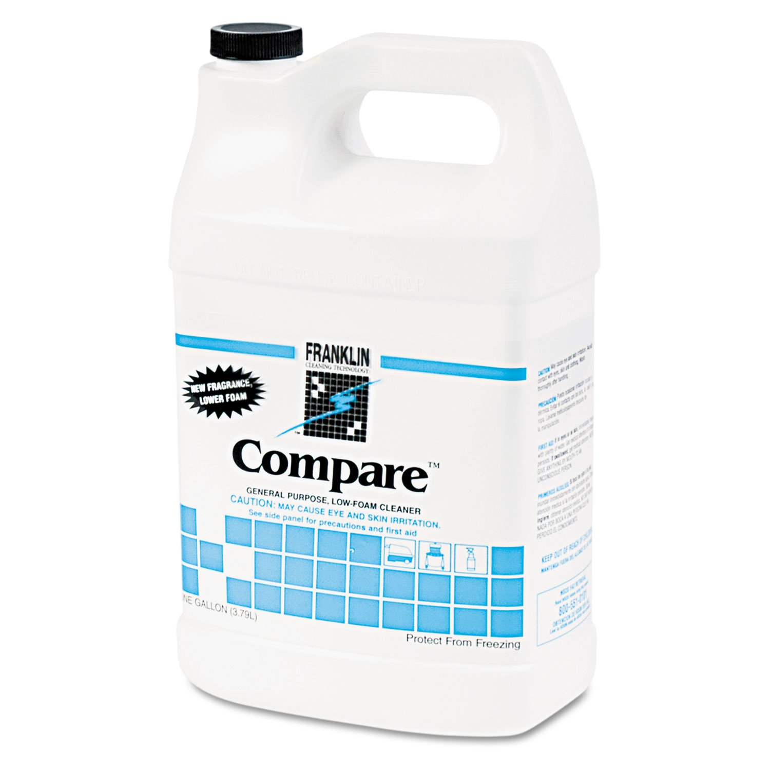 Franklin F216022CT Compare Floor Cleaner, 1gal Bottle, 4/Carton
