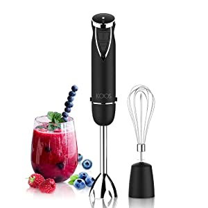 KOIOS Hand Blender 800W Max 12-Speed, 2-in-1 Multi-Purpose Immersion Blender Includes Stick Blender and Egg Whisk, BPA-Free