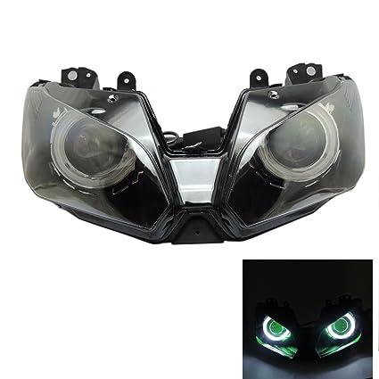 Amazon.com: Fits Kawasaki Ninja 300 250 ZX 6R ZX6R Headlight ...
