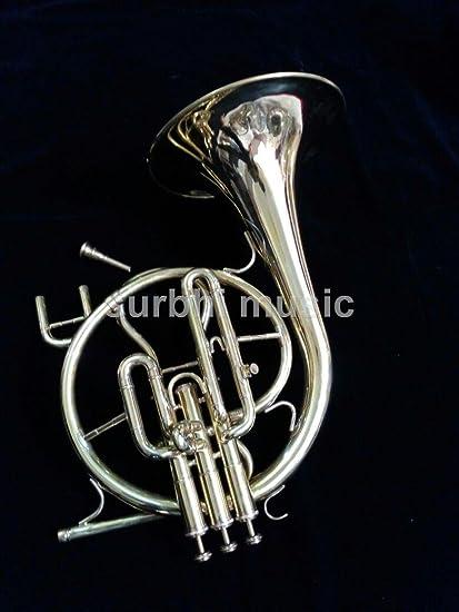 Amazon com: Surbhi Music Silver Chrome Mellophone Bb Flat High Pitch