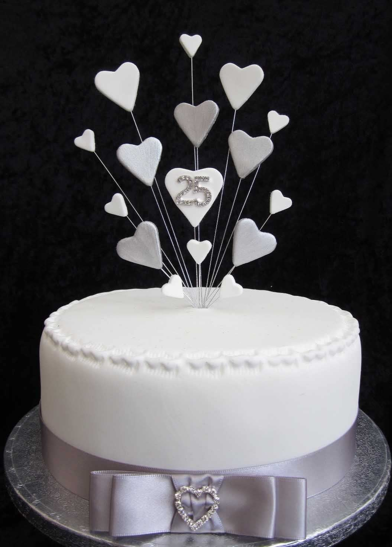 Topper per torta per 100° anniversario di matrimonio o compleanno, ideale  per torte da 100 cm + 10 nastro di raso color argento da 100 mm con fiocco e