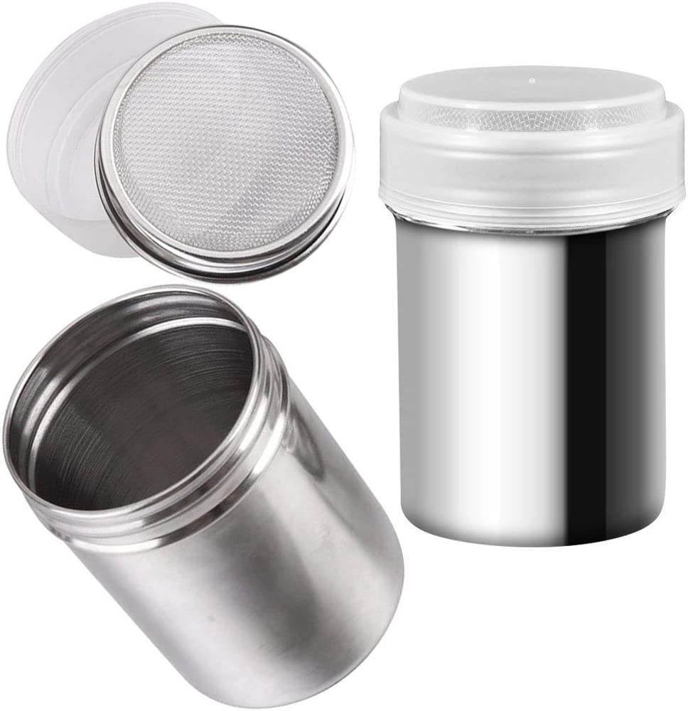 Stainless Steel Chocolate Shaker Icing Flour Cocoa Sugar Sifter Accessory P3