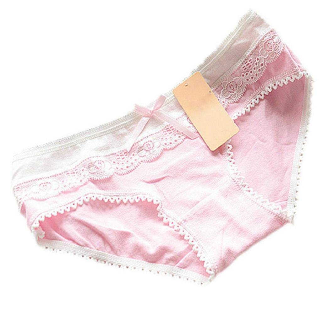 TRENTON Japanese Style Girl Women Cotton Bowknot Briefs Panties Cute Lolita Underwear