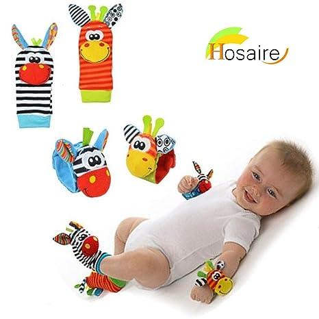 Hosaire en Calcetines y Muñeca para Bebé, con Juguetes, Adecuado para bebé 0-6 Meses, Sonajeros incorporados
