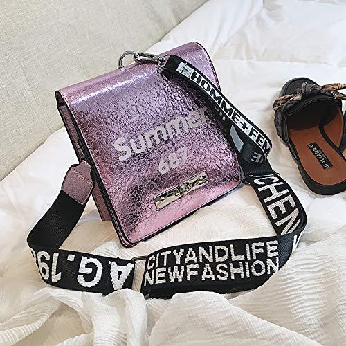 Verni coréenne Petit la Bande carré WSLMHH Cuir Messenger Portable de Version Paquet Mode Violet Sauvage Large marée Sac épaule en q1xPwxtnv