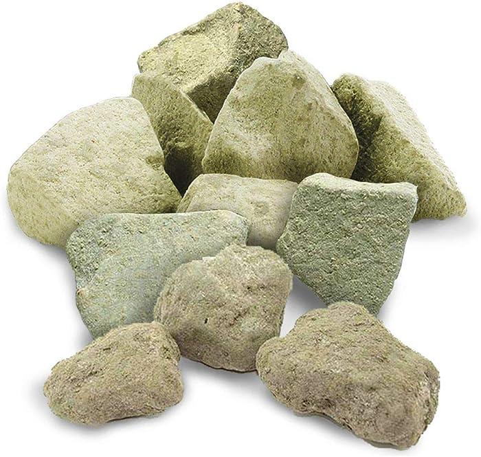 SunGrow Calcium Rocks for Aquatic Pets, Doubles Lifespan of Fry, Adds Vital Elements, Rustic and Discreet Aquarium Decor, 2.1 Ounce
