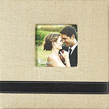 Burlap Covered Photo Album - Together Forever