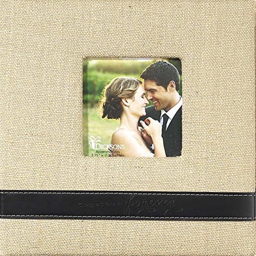 Together Forever Wedding Anniversary Love Burlap 4x6 Size 200 Photo Album Book